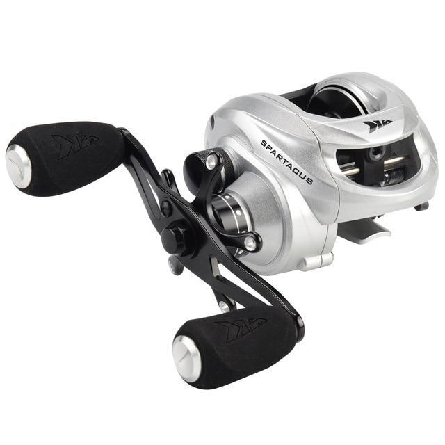 Kastking Spartacus Baitcasting Fishing Reel 8Kg Drag Power 12 Ball Bearings-Baitcasting Reels-Affordable Fishing Store-Silver-12-Left Hand-Bargain Bait Box