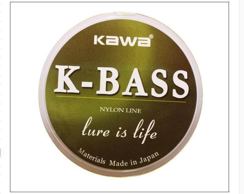 Kawa Product K-Bass 100M Nylon Fishing Line, Japan Imported Raw Line Strong-kawa Official Store-0.8-Bargain Bait Box