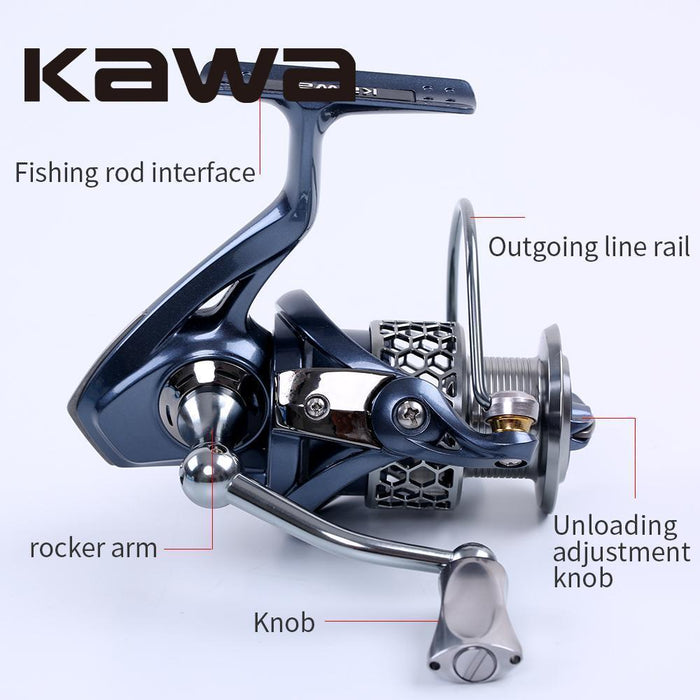 Kawa Spinning Fishing Reel Light-2000 3000 4000 5000 Series Wheel 9+1-Spinning Reels-kawa Official Store-2000 Series-Bargain Bait Box