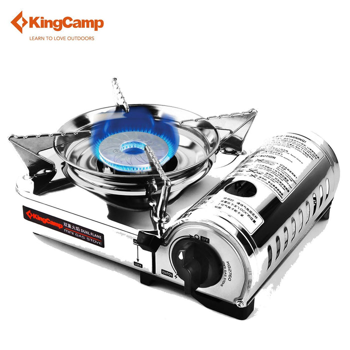 Kingcamp Outdoor Stove Camping Gas Stove For Hiking Trekking Cooking Portable-KingCamp Official Store-Bargain Bait Box