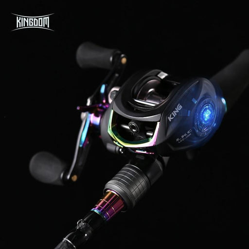 Kingdom King Ii Lure Combo Casting Fishing Rod Reel Set 2 Pc Top Section And 2-Fishing Rods-KINGDOM Outdoor Fishing(EU) Store-WHITE-Bargain Bait Box