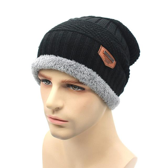 Knit Beanie Warmer Knitted Hats For Men Women Caps Warm Bonnet-Beanies-Bargain Bait Box-black-Bargain Bait Box