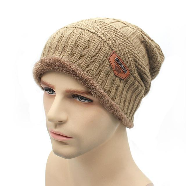 Knit Beanie Warmer Knitted Hats For Men Women Caps Warm Bonnet-Beanies-Bargain Bait Box-Khaki-Bargain Bait Box