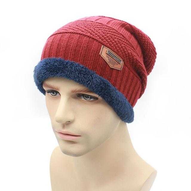 Knit Beanie Warmer Knitted Hats For Men Women Caps Warm Bonnet-Beanies-Bargain Bait Box-red-Bargain Bait Box