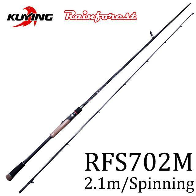 Kuying Rainforest 1.8 1.9 1.98 2.1M Casting Spinning Lure Fishing Rod Pole-Spinning Rods-kuying Official Store-Black-Bargain Bait Box