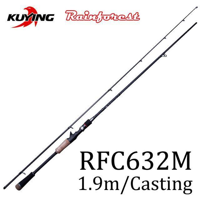 Kuying Rainforest 1.8 1.9 1.98 2.1M Casting Spinning Lure Fishing Rod Pole-Spinning Rods-kuying Official Store-Light Yellow-Bargain Bait Box