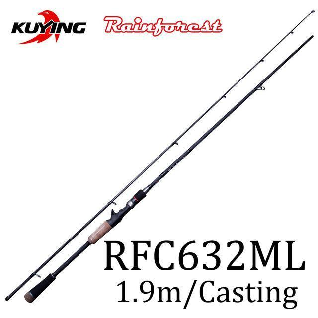 Kuying Rainforest 1.8 1.9 1.98 2.1M Casting Spinning Lure Fishing Rod Pole-Spinning Rods-kuying Official Store-Violet-Bargain Bait Box
