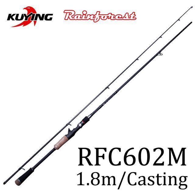 Kuying Rainforest 1.8 1.9 1.98 2.1M Casting Spinning Lure Fishing Rod Pole-Spinning Rods-kuying Official Store-White-Bargain Bait Box