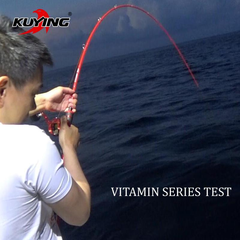 Kuying Vitamin Sea 1.5 Sections 2.04M Casting Spinning Carbon Lure Fishing-Spinning Rods-kuying Official Store-White-Bargain Bait Box