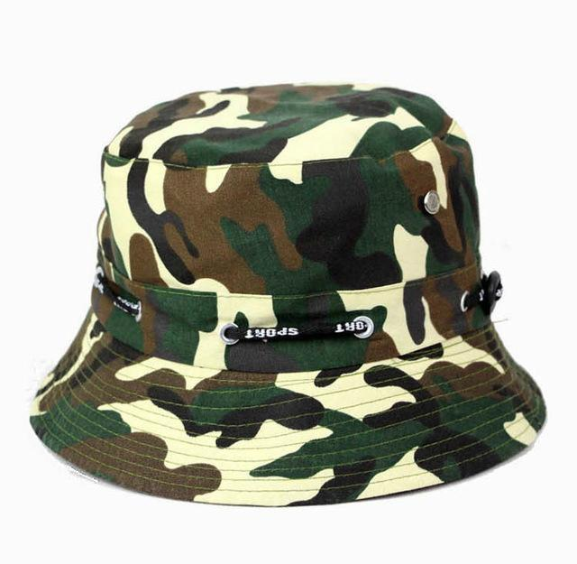 [La Maxpa] Jungle Cap Bucket Hats Chapeau Homme Men Fishing Chapeus Camo Hats-Hats-Bargain Bait Box-T7 1-Bargain Bait Box