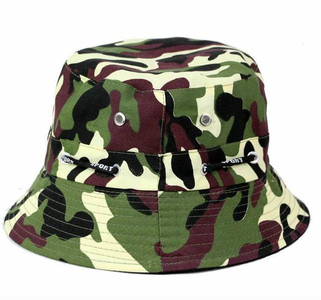 [La Maxpa] Jungle Cap Bucket Hats Chapeau Homme Men Fishing Chapeus Camo Hats-Hats-Bargain Bait Box-T7 3-Bargain Bait Box