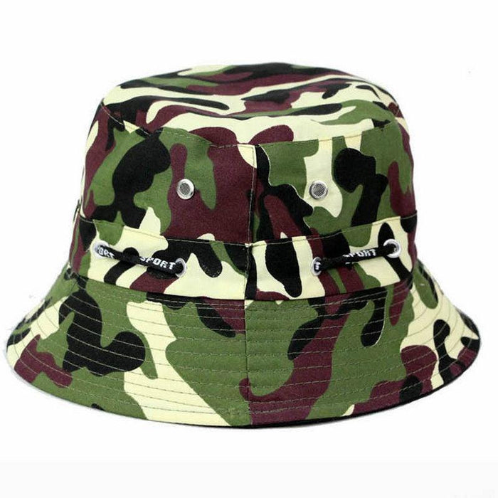 [La Maxpa] Jungle Cap Bucket Hats Chapeau Homme Men Fishing Chapeus Camo Hats-Hats-Bargain Bait Box-T7-Bargain Bait Box