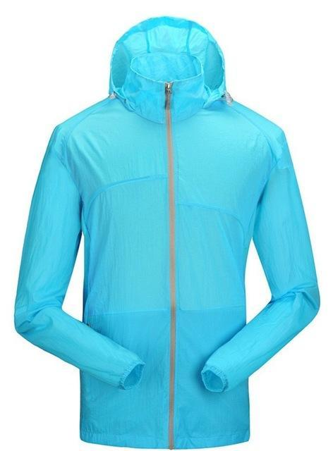 Lanbaosi Sports Men'S Jackets Hooded Waterproof Quick-Drying Sunscreen Ing-Hoodies-Bargain Bait Box-SKy blue-M-Bargain Bait Box