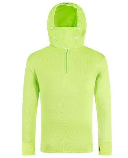 Lanbaosi Sun Uv Protection Fishing For Men Quick Dry Shirt Long Sleeve Hooded-Hoodies-Bargain Bait Box-Fluorescent green2-M-Bargain Bait Box