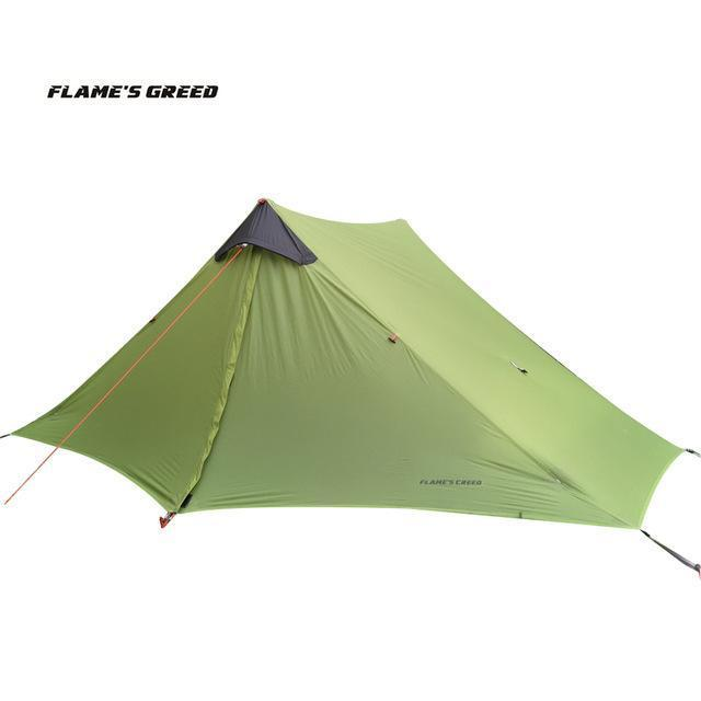 Lanshan 2 Flame'S Creed 2 Person Oudoor Ultralight Camping Tent 3 Season-YUKI SHOP-Green-Bargain Bait Box