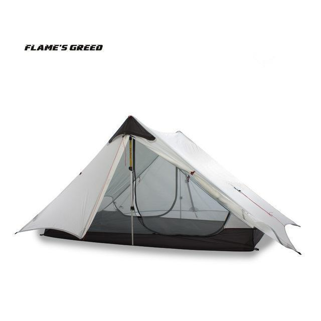 Lanshan 2 Flame'S Creed 2 Person Oudoor Ultralight Camping Tent 3 Season-YUKI SHOP-White-Bargain Bait Box