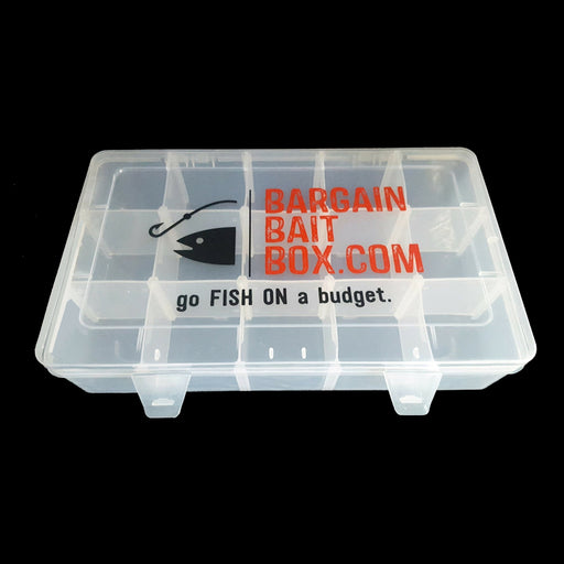 Large Plastic Adjustable Compartment Fishing Lure Tackle Box-Compartment Boxes-Bargain Bait Box-Large-Bargain Bait Box