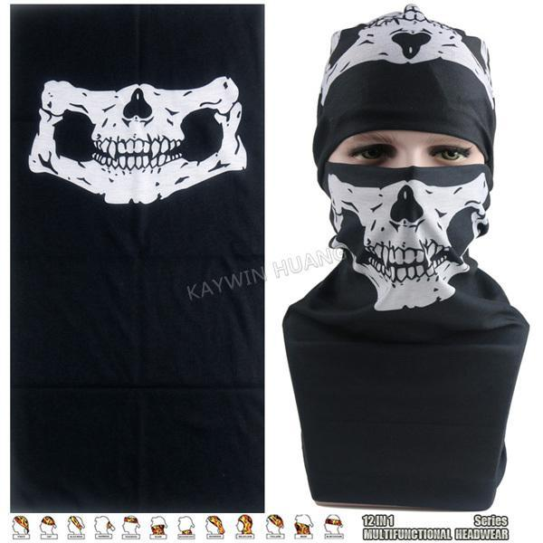 Latest Hypaethral Sports Scarves Sunscreen Bicycle Headband Skull Face Shield-Face Shields-Bargain Bait Box-MHM121-Bargain Bait Box