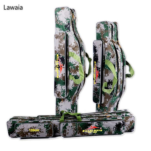 Lawaia 80Cm /90Cm /120Cm Fishing Bags Oxford Cloth Folding Fishing Rod Two-Fishing Rod Bags & Cases-Bargain Bait Box-80cm two layers-Bargain Bait Box
