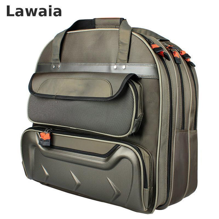 Lawaia Fishing Gear Backpack, Three Layers Handbag Thicker Waterproof Fish,-Backpacks-Bargain Bait Box-Red-Bargain Bait Box