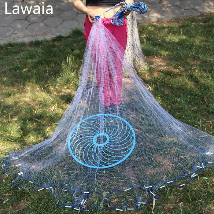 Lawaia Frisbee Throwing Hand American Fishing Network Fishing-Net- Fishing Net-Fishing Traps-Bargain Bait Box-5ft-Bargain Bait Box