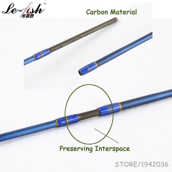 Le-Fish Hot Sale Carbon Fiber Material Spinning Fishing Rod Ul Eva Handle 1.8M 2-Spinning Rods-le-fish Official Store-Bargain Bait Box