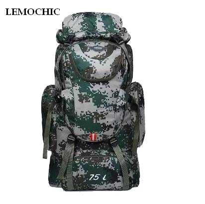 Lemochic 75L Camping Climbing Bags Bag Vlsivery Large Capacity Sports Backpack-Backpacks-Bargain Bait Box-camouflage-Bargain Bait Box