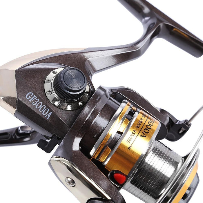 Leo Gf3000A Metal Reel Spinning Fishing Reel Tackle Lure Fishing Reel With 3-Spinning Reels-Shenzhen Outdoor Fishing Tools Store-Bargain Bait Box