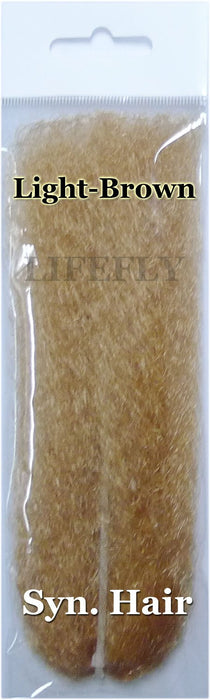 Light Brown Color / 10 Packs Synthetic Hair, Hair, Fly Tying, Jig, Lure Making-Fly Tying Materials-Bargain Bait Box-Bargain Bait Box