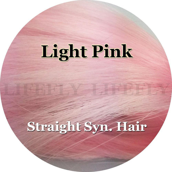 Light Pink Color, Large Hank Of Straight Syn. Hair, Fibre, Fly Tying, Jig,-Fly Tying Materials-Bargain Bait Box-Bargain Bait Box