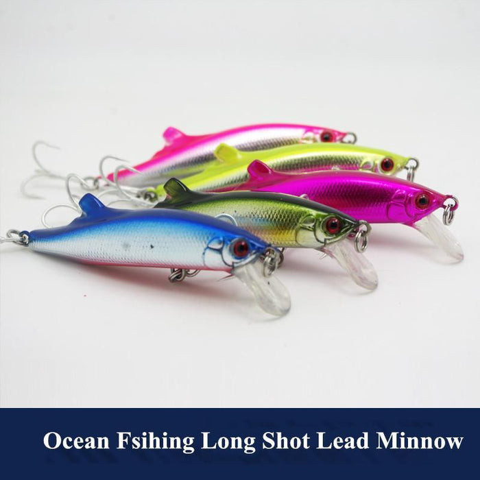 Long Range Lead Minnow 90Mm 27G Big Game Ocean Fishing Lure Artificial Hard-Musky & Pike Baits-Bargain Bait Box-pink-Bargain Bait Box