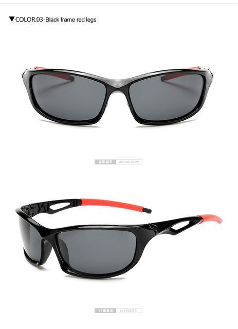 Longkeeper Polarized Sunglasses Men Driving Sun Glasses Oculos De Sol-Polarized Sunglasses-Bargain Bait Box-black red-Bargain Bait Box