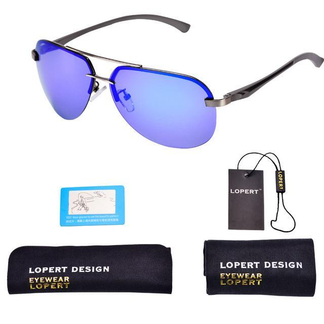 1f54a609547a Lopert Aviator Hd Polarized Sunglasses Men Driving Hd Glasses Male High-Polarized  Sunglasses-Bargain