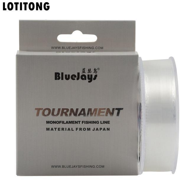 Lotitong Stealth Fishing Line Super Strong Japanese 200M Transparent Nylon-LOTITONG Store-Transparent white-0.6 0.127mm-2.78LB-Bargain Bait Box