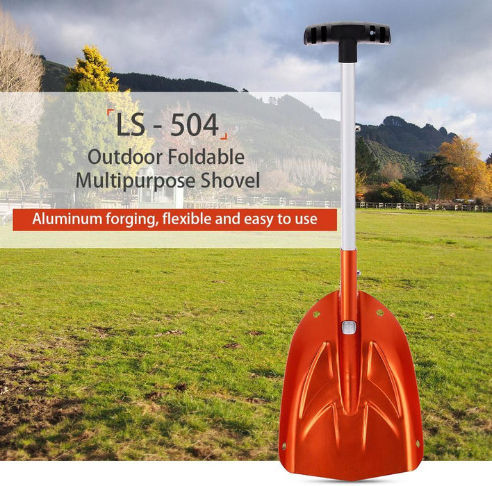 Ls - 504 Foldable Shovel Aluminum Handle Portable Shovel Spade Emergency Snow-Shenzhen Outdoor Fishing Tools Store-Bargain Bait Box