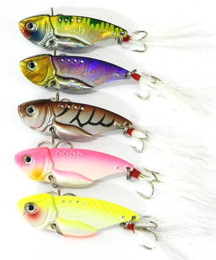 Lure Metal Fresh/Shallow Feathers Walleye Crappie Hooks Tackle Vib018-Blade Baits-Bargain Bait Box-Bargain Bait Box
