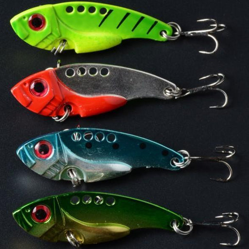 Lure Metal Vib Hard Bait Fresh Water Shallow Water Bass Walleye Crappie Minnow-Blade Baits-Bargain Bait Box-Bargain Bait Box
