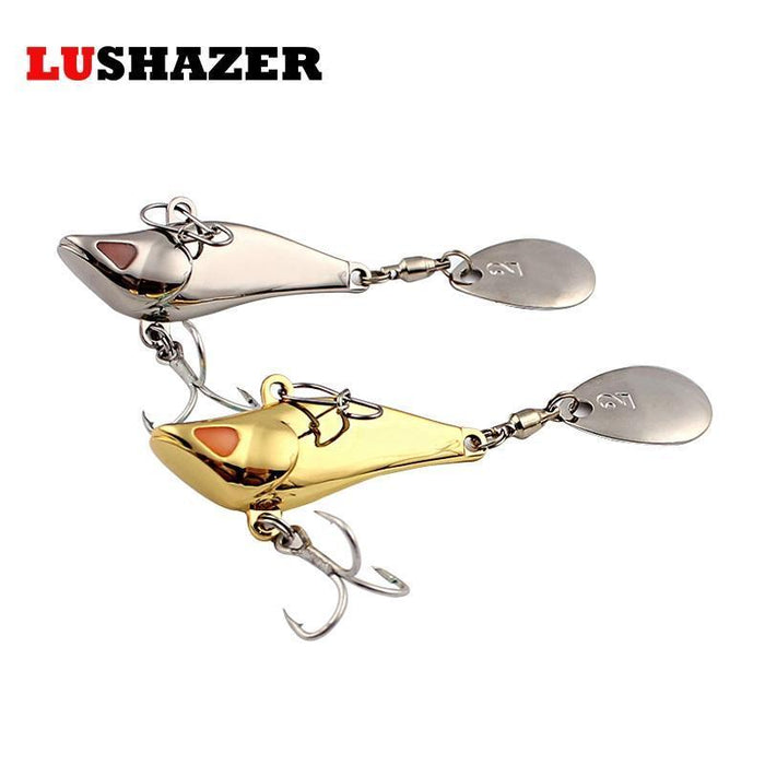 Lushazer Fishing Lure Spoon 7.5G 10G 15G 20G Metal Lure Carp Fishing Lures-LUSHAZER Official Store-7g silver-Bargain Bait Box