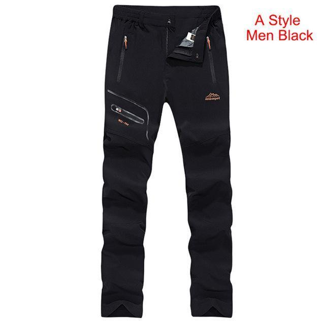 LY4U Men Quick Dry Hiking Trousers Men/'s Outdoor Breathable Water-repellent Walking Pants with Belt