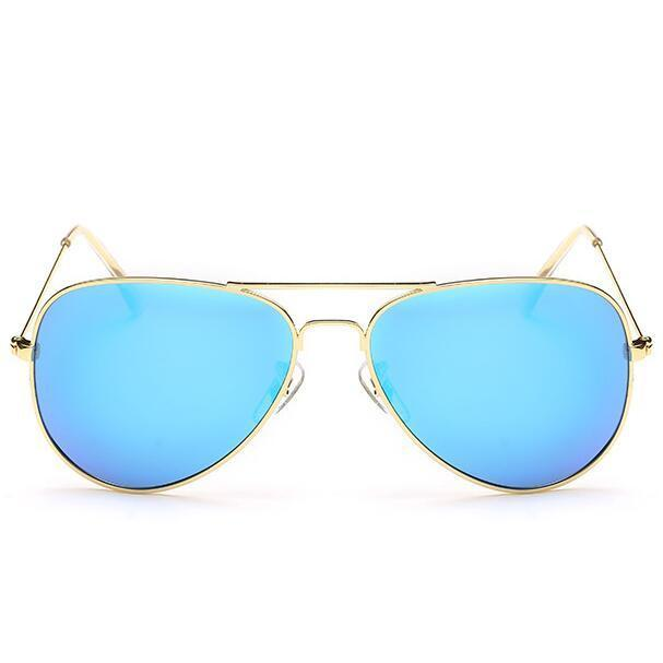 Luxury Vintage Polarized Sunglasses Women Female Sunglass Aviator Sun Glasses-Polarized Sunglasses-Bargain Bait Box-C13Gold F Blue-Colors-Bargain Bait Box