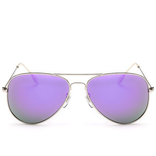 Luxury Vintage Polarized Sunglasses Women Female Sunglass Aviator Sun Glasses-Polarized Sunglasses-Bargain Bait Box-C7Silver F Purple-Colors-Bargain Bait Box