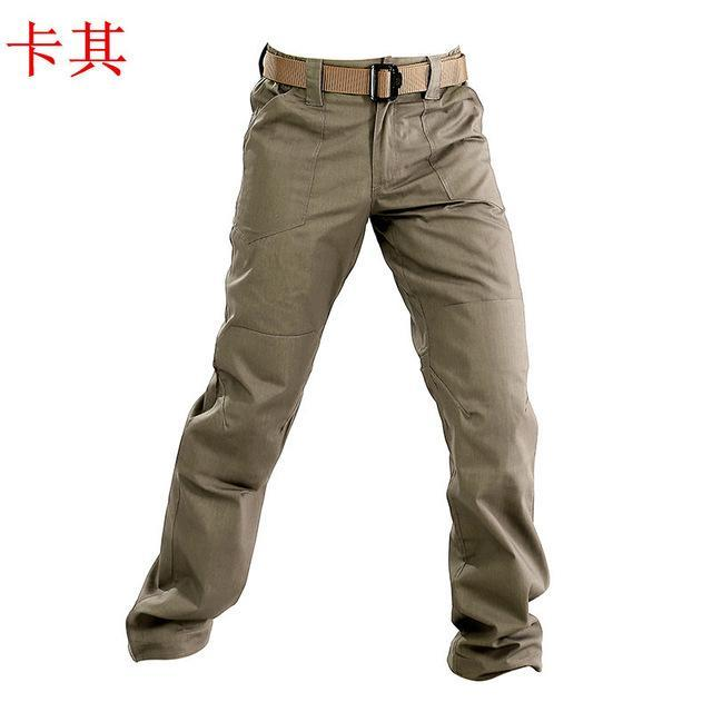 Male Softshell Pants Men Waterproof Camping Climbing Fishing Trekking Tactical-Pants-Bargain Bait Box-Khaki-S-Bargain Bait Box