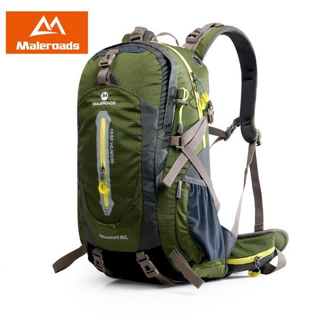 Maleroads 40L Hiking Backpack Trekking Rucksack Travel Backpack Outdoor Sport-Maleroads Outdoor Sport Store-Army Green 40L-Bargain Bait Box