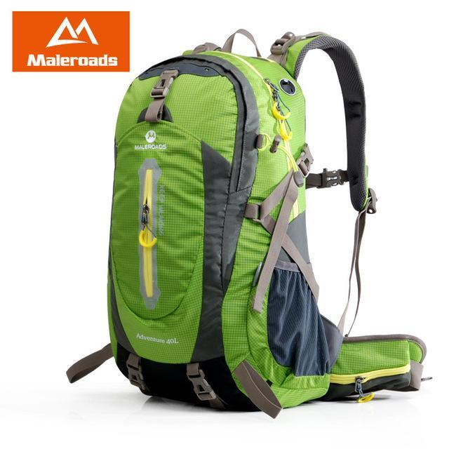 Maleroads 40L Hiking Backpack Trekking Rucksack Travel Backpack Outdoor Sport-Maleroads Outdoor Sport Store-Fruit Green 40L-Bargain Bait Box