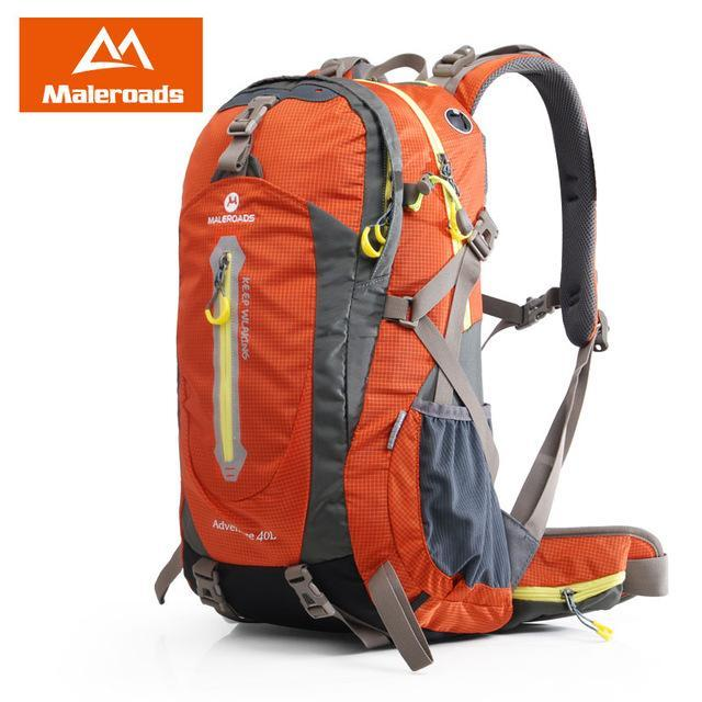 Maleroads 40L Hiking Backpack Trekking Rucksack Travel Backpack Outdoor Sport-Maleroads Outdoor Sport Store-Orange 40L-Bargain Bait Box