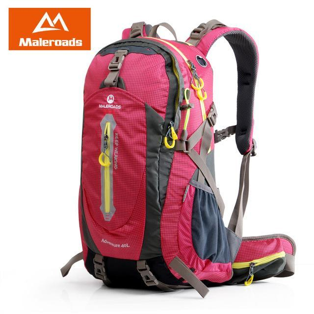 Maleroads 40L Hiking Backpack Trekking Rucksack Travel Backpack Outdoor Sport-Maleroads Outdoor Sport Store-Rose Red 40L-Bargain Bait Box