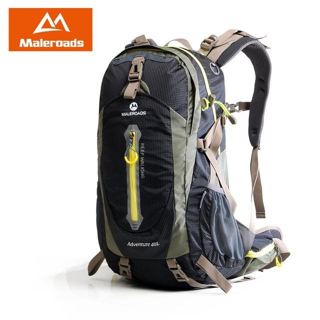 Maleroads Rucksack Camping Hiking Backpack Sports Bag Outdoor Travel Backpack-Climbing Bags-Maleroads Official Store-Black-30 - 40L-China-Bargain Bait Box