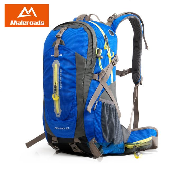 Maleroads Rucksack Camping Hiking Backpack Sports Bag Outdoor Travel Backpack-Climbing Bags-Maleroads Official Store-Blue-30 - 40L-China-Bargain Bait Box