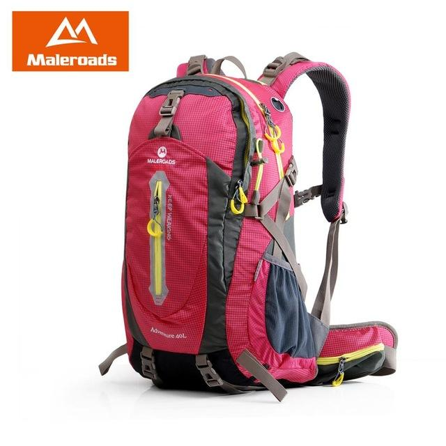 Maleroads Rucksack Camping Hiking Backpack Sports Bag Outdoor Travel Backpack-Climbing Bags-Maleroads Official Store-Rose Res-30 - 40L-China-Bargain Bait Box