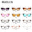 Maolen Women Cat Eye Sunglasses Fashion Mirror Cat Eye Sun Glasses-Sunglasses-MAOLEN Sunglasses Store-C1-Bargain Bait Box
